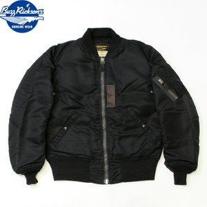 No.BR13653 BUZZ RICKSON'S バズリクソンズWILLIAM GIBSON COLLECTIONtype BLACK MA-1 DOWN FILLED|junkyspecial