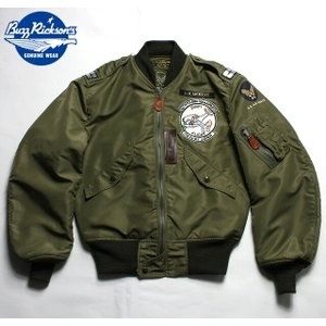"""No.BR14111 BUZZ RICKSON'S バズリクソンズType L-2 """"AMERICAN PAD & TEXTILE CO."""" 36th FTR-BOMB SQ.
