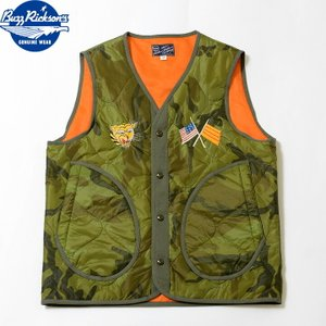 """No.BR14822 BUZZ RICKSON'S × PEANUTSQUILTING LINER VEST""""I'M READY TO GO HOME"""" junkyspecial"""