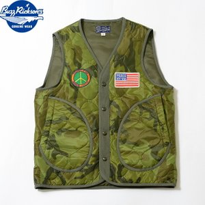 """No.BR14823 BUZZ RICKSON'S バズリクソンズQUILTING LINER VEST""""NOT WAR"""" junkyspecial"""