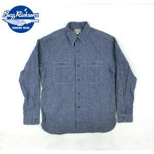 No.BR25995 BUZZ RICKSON'S バズリクソンズBLUE CHAMBRAY WORK SHIRT|junkyspecial