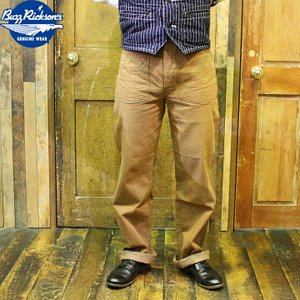 No.BR41901 BUZZ RICKSON'S バズリクソンズWWI BROWN DENIMARMY TROUSERS|junkyspecial