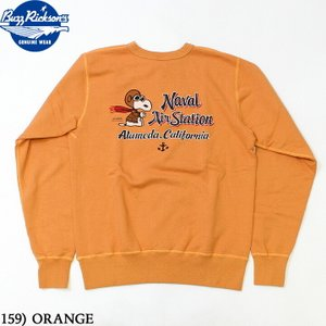 No.BR68598 BUZZ RICKSON'S × PEANUTSバズリクソンズ×ピーナッツSET-IN CREW SWEAT NAVAL AIR STATION|junkyspecial