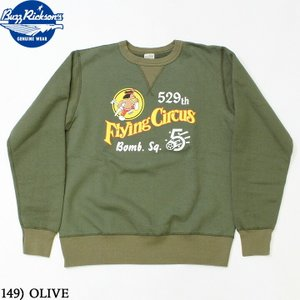 No.BR68700 BUZZ RICKSON'S バズリクソンズSET-IN CREW SWEAT529th BOMB. SQ. FLYING CIRCUS|junkyspecial
