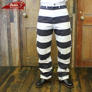 No.IM41874 INDIAN MOTORCYCLE × HEAD LIGHTTWILL BORDER WORK PANTS junkyspecial