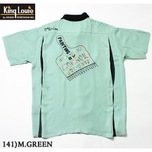 """No.KL37600 KING LOUIE キングルイby HolidayBOWLING SHIRT """"PAINTBRUSH""""