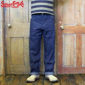 No.SC41822 SUGAR CANE シュガーケーン11oz. BLUE DENIM WORK PANTS|junkyspecial