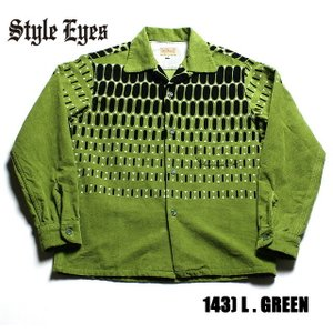 """No.SE27724 STYLE EYES スタイルアイズCORDUROY SPORTS SHIRT""""ELVIS DOTS""""