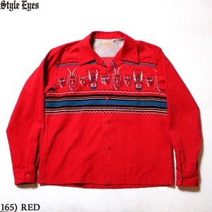 """No.SE28257 STYLE EYES スタイルアイズCORDUROY SPORTS SHIRT""""AFRICAN MASK""""