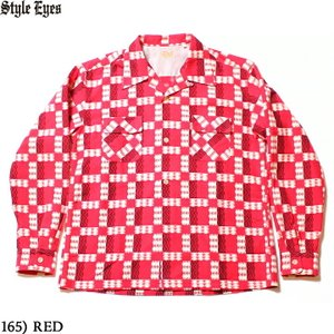 """No.SE28264 STYLE EYES スタイルアイズFLANNEL SPORTS SHIRT""""TRIANGLE & ZIGZAG""""