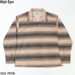 """No.SE28537 STYLE EYES スタイルアイズFLANNEL SPORTS SHIRT""""GRADATION STRIPES""""
