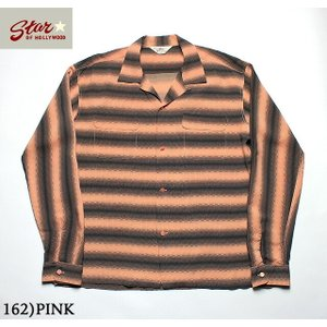 """No.SH28121 STAR OF HOLLYWOODL/S OPEN SHIRT""""GRADATION STRIPES"""" junkyspecial"""