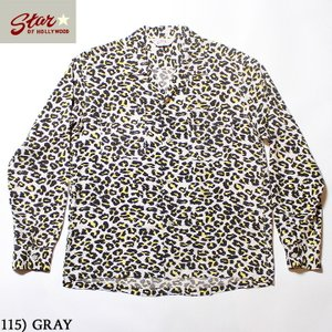 """No.SH28379 STAR OF HOLLYWOODHIGH DENSITY RAYONL/S OPEN SHIRT""""LEOPARD"""" junkyspecial"""