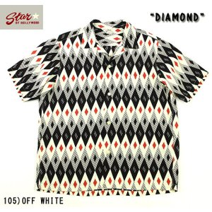 "No.SH37282 STAR OF HOLLYWOODHIGH DENSITY RAYON SHIRT""DIAMOND"" junkyspecial"
