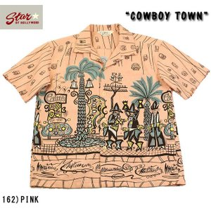 "No.SH37284 STAR OF HOLLYWOODSLUB COTTON SHIRT""COWBOY TOWN"" junkyspecial"