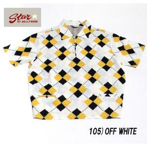 "No.SH37592 STAR OF HOLLYWOODHigh Density Rayon Pullover Shirt""ARGYLE"" junkyspecial"