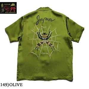 "No.TT38203 TAILOR TOYO テーラートーヨーS/S SUKA RAYON SHIRT""SPIDER WEB""|junkyspecial"