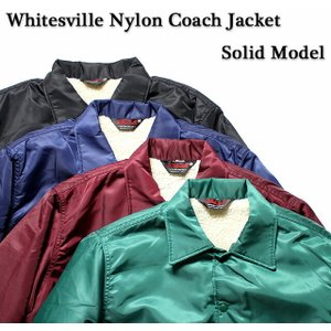 No.WV13950JS WHITESVILLE × JUNKY SPECIALNYLON COACH JACKETSOLID MODEL|junkyspecial