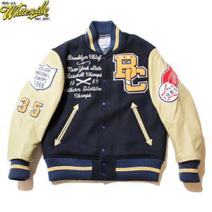 "No.WV14460 WHITESVILLE ホワイツビル30oz. Wool Melton Award Jacket"" BROOKLYN CHIEFS ""|junkyspecial"