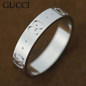 グッチ 073230-09850 GGリング 指輪 GUCCI  K18WGホワイトゴールド|juraice