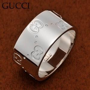 グッチ 073238-09850/9000-7 GGリング K18WGホワイトゴールド 指輪 GUCCI|juraice