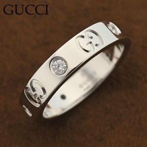 グッチ 100881-J8540/9066/10 ダイヤモンド アイコンダイヤモンドリング 指輪 GUCCI ホワイトゴールド|juraice