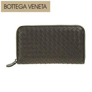BOTTEGA VENETA ボッテガ・ヴェネタ 114076-VX051 2006 長財布 ラウンドファスナー ダークブラウン|juraice