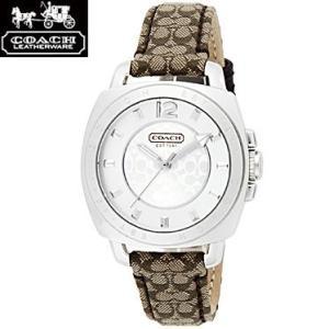 COACH コーチ 14501538 ボーイフレンド ミニ シルバー×ブラウン 腕時計 ウォッチ レディース sale|juraice