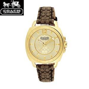 COACH コーチ 14501548 ボーイフレンド ミニ ゴールド×ブラウン 腕時計 ウォッチ レディース|juraice