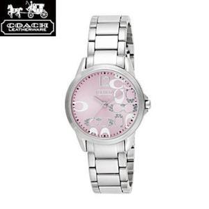 COACH コーチ 14501617 クラシックシグネチャー ピンク×シルバー 腕時計 ウォッチ レディース|juraice