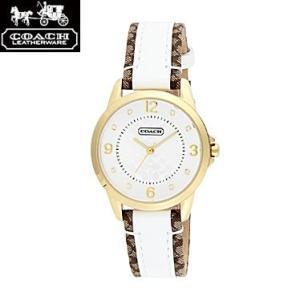 COACH コーチ 14501618 シグネチャーインデックス ホワイト×ゴールド 腕時計 ウォッチ レディース|juraice