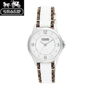 COACH コーチ 14501619 シグネチャーインデックス ホワイト×シルバー 腕時計 ウォッチ レディース|juraice