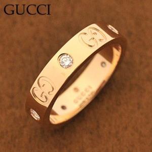 グッチ 152046-J8540 ダイヤモンド アイコンダイヤモンドリング 指輪 GUCCI  K18PGピンクゴールド|juraice