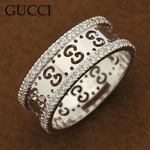 グッチ 201938-J8540/9066/08 リング ダイヤモンド アイコンダイヤモンドリング 指輪 GUCCI ホワイトゴールド|juraice