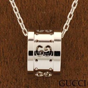 グッチ 214169-J8500/9000 ネックレス ペンダント GUCCI ホワイトゴールド|juraice