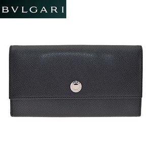 BVLGARI  ブルガリ 27749 BLACK 長財布 小銭入れ付|juraice
