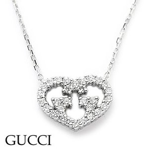 グッチ 285487-J8540/9066 ダイヤモンド ハートモチーフ ネックレス GUCCI juraice