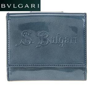 BVLGARI ブルガリ 31272 ブルー ダブルホック財布 juraice