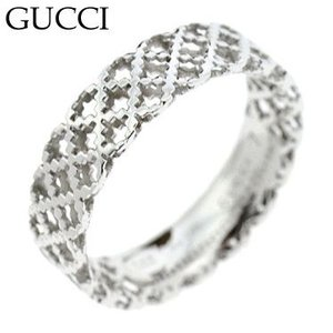 グッチ 341236-J8500/9000 リング 指輪 GUCCI  K18WGホワイトゴールドイト|juraice