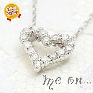【me on...】お取り寄せ/45058/贈り物に..フルラインオープンハートダイヤモンドK18ネックレス/ミーオン sale|juraice