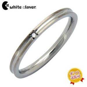 カラーラインダイヤモンドステンレスリング/シルバー4SUR029SV/刻印可能/white clover/ホワイトクローバー sale|juraice