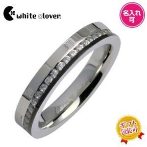 送料無料 ローマキュービックステンレスリング/black 4SUR037BK/刻印可能/white clover/ホワイトクローバー sale|juraice