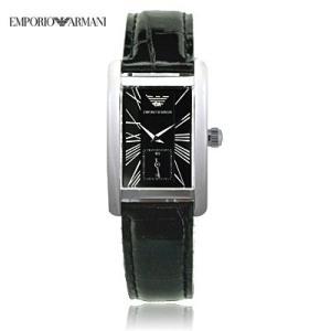 送料無料 エンポリオ・アルマーニ レディース AR0144 クラシック スモールセコンド レザー / ブラック  腕時計|juraice