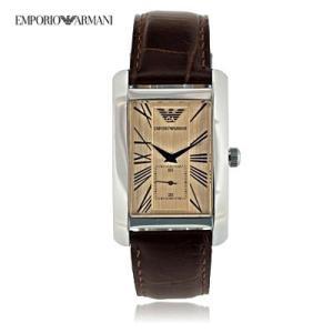 送料無料 エンポリオ・アルマーニ AR0154 クラシック スモールセコンド レザー / ブラウン メンズ   腕時計|juraice