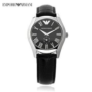 送料無料 エンポリオ・アルマーニ レディース AR0644 クラシック スモールセコンド レザー / ブラック レディース 腕時計 juraice