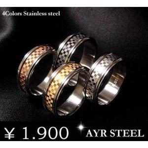 リング ブラック ピンク ゴールド シルバー ステンレス チェック メンズ レディース 指輪 ピンク アクセサリー 刻印 年度末 sale|juraice