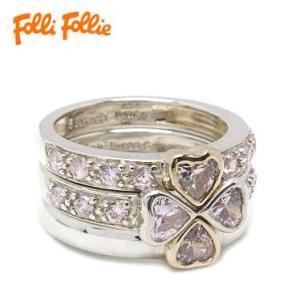 フォリフォリ CLOVER RING/PK/PK  クローバーリング キュービックジルコニア Folli Follie sale|juraice