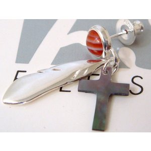 【FREE STYLE】fse805-bshブラックシェルフリースタイルピアスst sale juraice