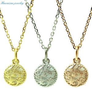 ハワイアンジュエリー ネックレス メダル レディース メンズ シルバー イエローゴールド ピンクゴールド ステンレススチール 誕生日 記念 sale|juraice