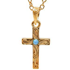 ハワイアンジュエリー 十字架 ターコイズ ネックレス 金属アレルギー対応 サージカル ステンレス ギフト インスタ sale|juraice